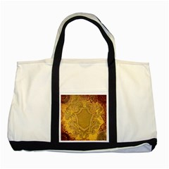 Vintage Scrapbook Old Ancient Retro Pattern Two Tone Tote Bag