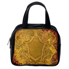 Vintage Scrapbook Old Ancient Retro Pattern Classic Handbags (One Side)