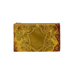 Vintage Scrapbook Old Ancient Retro Pattern Cosmetic Bag (Small)
