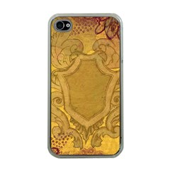 Vintage Scrapbook Old Ancient Retro Pattern Apple iPhone 4 Case (Clear)