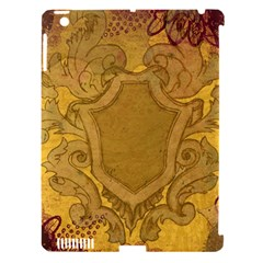 Vintage Scrapbook Old Ancient Retro Pattern Apple iPad 3/4 Hardshell Case (Compatible with Smart Cover)