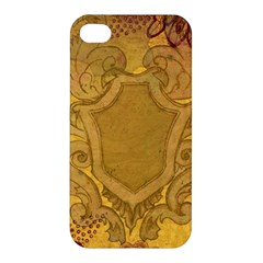Vintage Scrapbook Old Ancient Retro Pattern Apple iPhone 4/4S Premium Hardshell Case