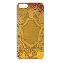 Vintage Scrapbook Old Ancient Retro Pattern Apple iPhone 5 Seamless Case (White)