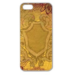 Vintage Scrapbook Old Ancient Retro Pattern Apple Seamless Iphone 5 Case (clear)