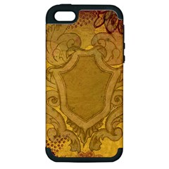 Vintage Scrapbook Old Ancient Retro Pattern Apple Iphone 5 Hardshell Case (pc+silicone)