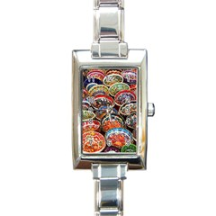 Art Background Bowl Ceramic Color Rectangle Italian Charm Watch