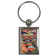 Art Background Bowl Ceramic Color Key Chains (Rectangle)