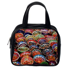 Art Background Bowl Ceramic Color Classic Handbags (One Side)