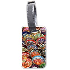 Art Background Bowl Ceramic Color Luggage Tags (one Side)