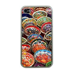 Art Background Bowl Ceramic Color Apple iPhone 4 Case (Clear)