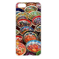 Art Background Bowl Ceramic Color Apple Iphone 5 Seamless Case (white)