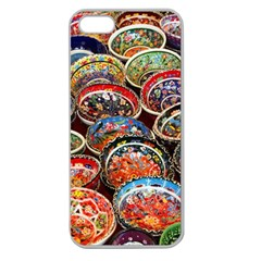 Art Background Bowl Ceramic Color Apple Seamless iPhone 5 Case (Clear)