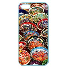 Art Background Bowl Ceramic Color Apple Seamless iPhone 5 Case (Color)