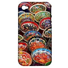 Art Background Bowl Ceramic Color Apple iPhone 4/4S Hardshell Case (PC+Silicone)