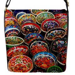 Art Background Bowl Ceramic Color Flap Messenger Bag (S)