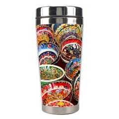 Art Background Bowl Ceramic Color Stainless Steel Travel Tumblers