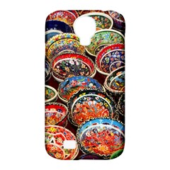 Art Background Bowl Ceramic Color Samsung Galaxy S4 Classic Hardshell Case (PC+Silicone)