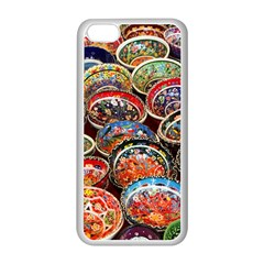 Art Background Bowl Ceramic Color Apple iPhone 5C Seamless Case (White)