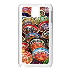 Art Background Bowl Ceramic Color Samsung Galaxy Note 3 N9005 Case (White)