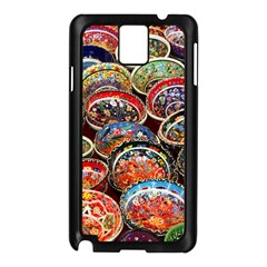 Art Background Bowl Ceramic Color Samsung Galaxy Note 3 N9005 Case (Black)