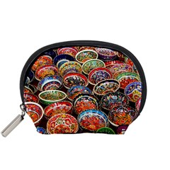 Art Background Bowl Ceramic Color Accessory Pouches (Small)