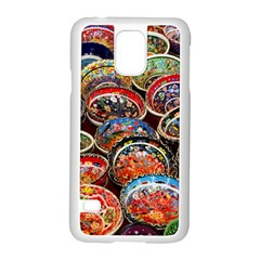 Art Background Bowl Ceramic Color Samsung Galaxy S5 Case (White)