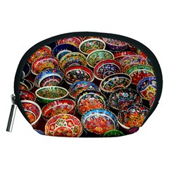 Art Background Bowl Ceramic Color Accessory Pouches (Medium)