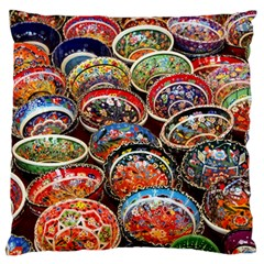 Art Background Bowl Ceramic Color Standard Flano Cushion Case (two Sides)