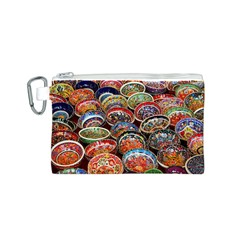 Art Background Bowl Ceramic Color Canvas Cosmetic Bag (S)