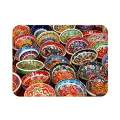 Art Background Bowl Ceramic Color Double Sided Flano Blanket (Mini)
