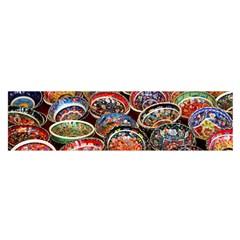 Art Background Bowl Ceramic Color Satin Scarf (oblong)