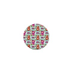 Floral Flower Pattern Seamless 1  Mini Magnets