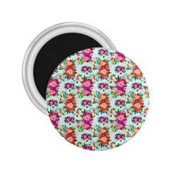 Floral Flower Pattern Seamless 2.25  Magnets