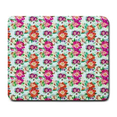 Floral Flower Pattern Seamless Large Mousepads