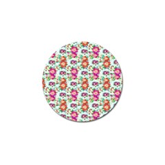 Floral Flower Pattern Seamless Golf Ball Marker (4 pack)