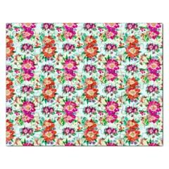 Floral Flower Pattern Seamless Rectangular Jigsaw Puzzl