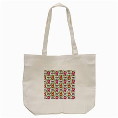 Floral Flower Pattern Seamless Tote Bag (Cream)