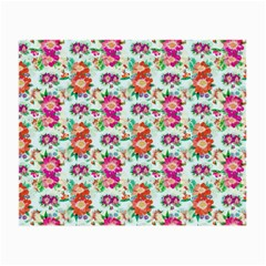 Floral Flower Pattern Seamless Small Glasses Cloth