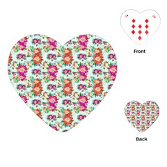 Floral Flower Pattern Seamless Playing Cards (Heart)