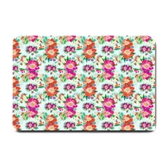 Floral Flower Pattern Seamless Small Doormat