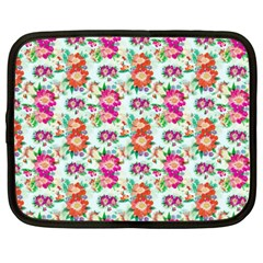 Floral Flower Pattern Seamless Netbook Case (Large)