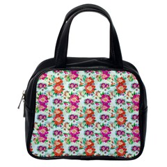Floral Flower Pattern Seamless Classic Handbags (one Side)