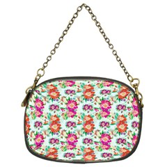 Floral Flower Pattern Seamless Chain Purses (two Sides)