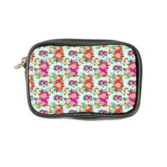 Floral Flower Pattern Seamless Coin Purse