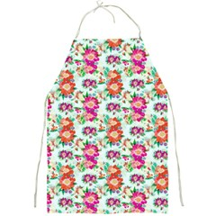 Floral Flower Pattern Seamless Full Print Aprons
