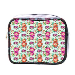 Floral Flower Pattern Seamless Mini Toiletries Bags