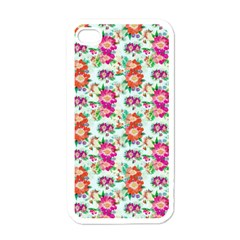 Floral Flower Pattern Seamless Apple Iphone 4 Case (white)