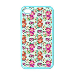 Floral Flower Pattern Seamless Apple Iphone 4 Case (color)