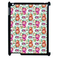 Floral Flower Pattern Seamless Apple iPad 2 Case (Black)
