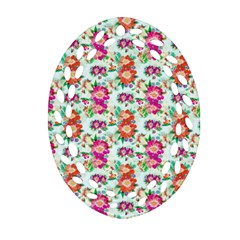 Floral Flower Pattern Seamless Ornament (Oval Filigree)